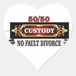 Adesivo Coração 50 50 direitos de pais,
