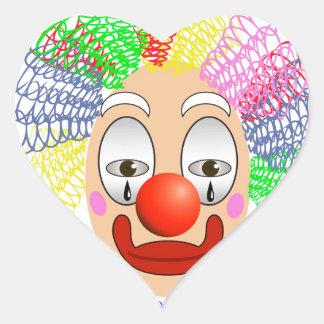 Adesivo Coração 97Clown Head_rasterized