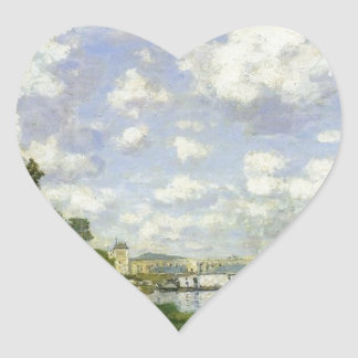 Adesivo Coração A bacia em Argenteuil - Claude Monet