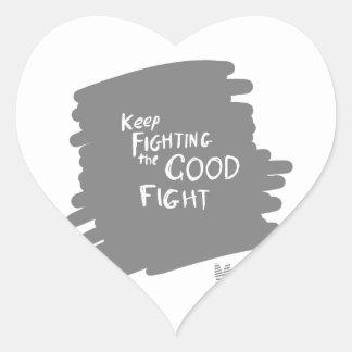 Adesivo Coração A boa luta