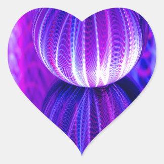 Adesivo Coração a bola de cristal reflete