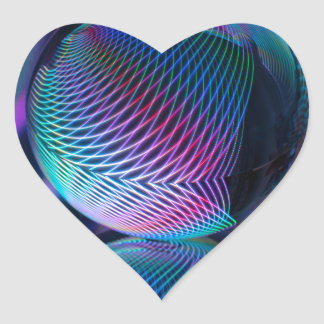 Adesivo Coração A bola reflete 4