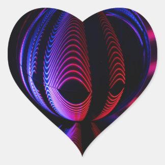 Adesivo Coração A bola reflete 6