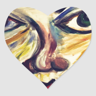 Adesivo Coração A cara da mulher abstrata