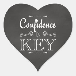 Adesivo Coração A confiança é chave