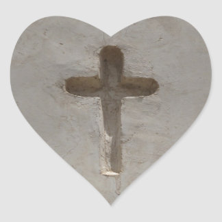 Adesivo Coração A cruz cristã primitiva personaliza a bíblia