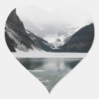 Adesivo Coração A extremidade do inverno, Lake Louise