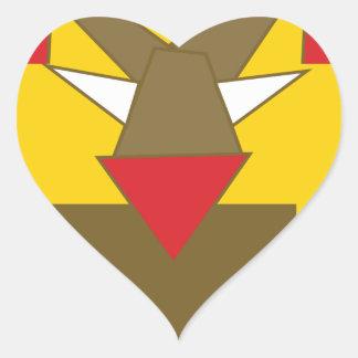 Adesivo Coração A forma fez o leão