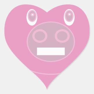 Adesivo Coração A forma fez o porco