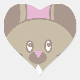Adesivo Coração A forma fez o rato