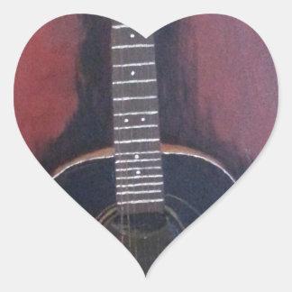 Adesivo Coração A guitarra de Ryan