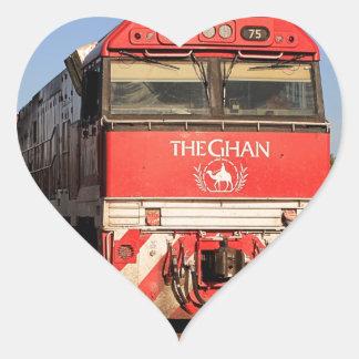 Adesivo Coração A locomotiva do trem de Ghan, Darwin