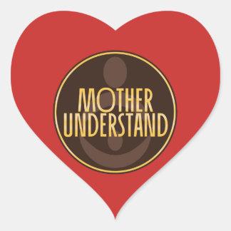 Adesivo Coração A mãe compreende