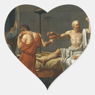 Adesivo Coração A morte de Socrates