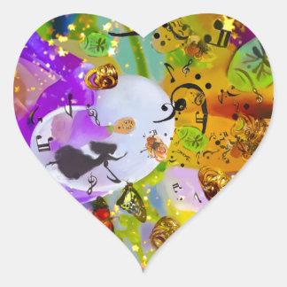 Adesivo Coração A música pode expressar tudo e dizer nada