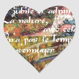 Adesivo Coração A natureza no art. de Monet