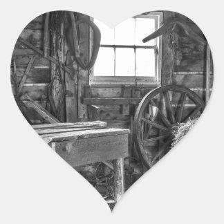 Adesivo Coração A oficina velha