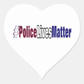 Adesivo Coração # a polícia vive matéria