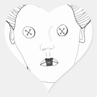 Adesivo Coração A rainha do botão