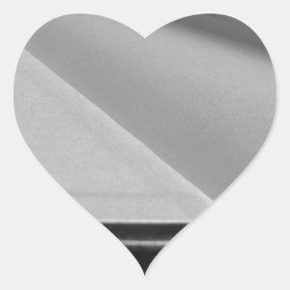 Adesivo Coração A segunda mão registra com páginas vazias em uma