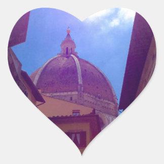 Adesivo Coração Abóbada de Brunelleschi em Florença, Italia