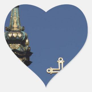 Adesivo Coração Abóbadas ortodoxos da igreja cristã