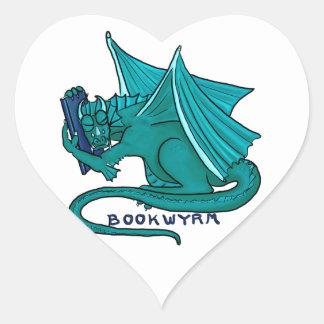Adesivo Coração Abraço Bookwyrm do livro