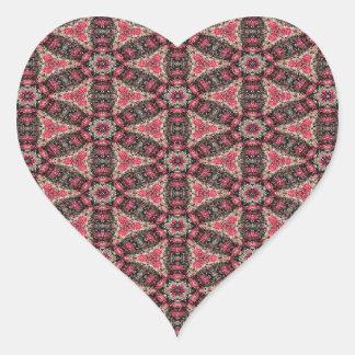 Adesivo Coração Abstracção cor-de-rosa
