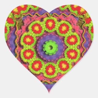 Adesivo Coração Abstrato do Pinata de Cinco De Mayo