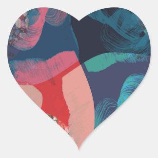 Adesivo Coração Abstrato marmoreado