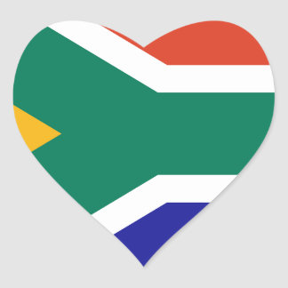 Adesivo Coração África do Sul