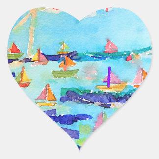 Adesivo Coração Aguarela do coração de Stickers_Sailing