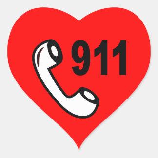 ADESIVO CORAÇÃO AJUDA MÉDICA SHOUTOUT DO NÚMERO DE TELEFONE DE 911