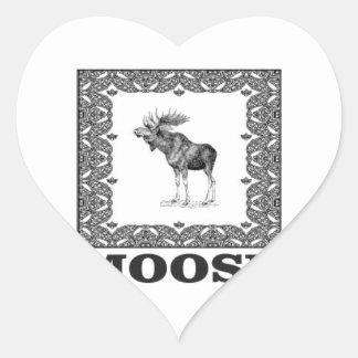Adesivo Coração alces do touro em uma caixa