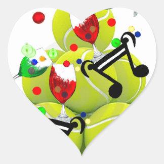 Adesivo Coração Alegria da música das bolas