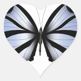 Adesivo Coração Aleta azul gigante da borboleta 5 azuis