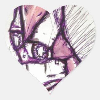 Adesivo Coração Algo que perturba