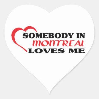 Adesivo Coração Alguém em Montreal ama-me