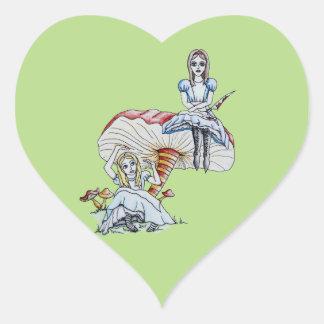 Adesivo Coração Alice louca