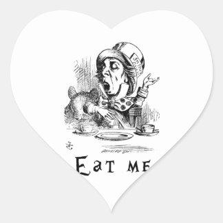Adesivo Coração Alice no país das maravilhas - coma-me