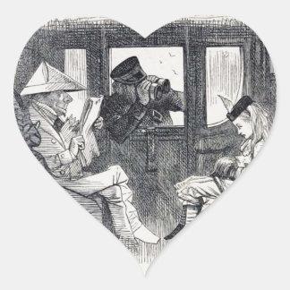 Adesivo Coração Alice no trem
