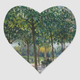 Adesivo Coração Allée de árvores de castanha - Alfred Sisley
