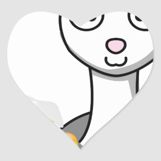Adesivo Coração alpaca feliz do Dia de São Patrício