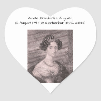Adesivo Coração Amalie Friederike Augusta c1825