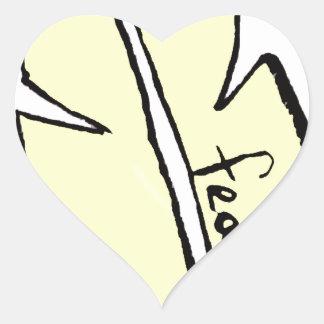 Adesivo Coração amarelo da pena