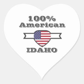Adesivo Coração Americano de 100%, Idaho