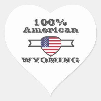Adesivo Coração Americano de 100%, Wyoming