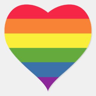 Adesivo Coração Amor alegre colorido do orgulho do arco-íris