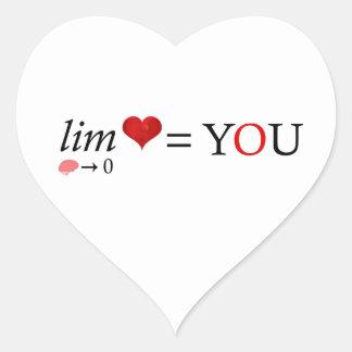 Adesivo Coração Amor da matemática