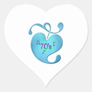 Adesivo Coração amor da música 70s